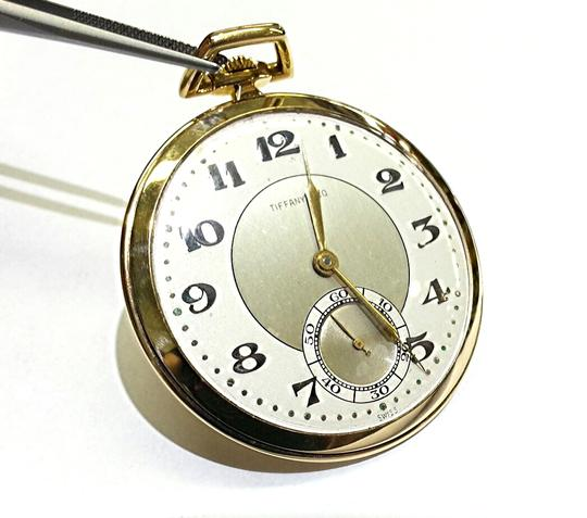 Tiffany & Co. Tiffany & Co Vintage 18 K Gold Pocket Watch With IWC Movement Image 2