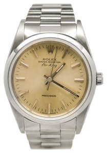 Rolex Rolex Air-king 14000 Automatic Mens Watch Stainless Steel Silver Dial