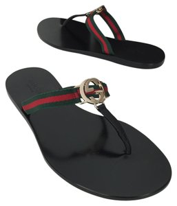 Gucci Chloe Flats Black Sandals