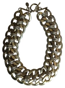 Spring Step STATEMENT Necklace / Bronze & Silver