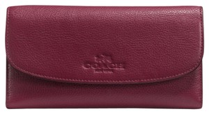 Coach Leather full size wallet with removable checkbook cover
