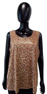 Chico's Shimmer Contemporary Top Brown