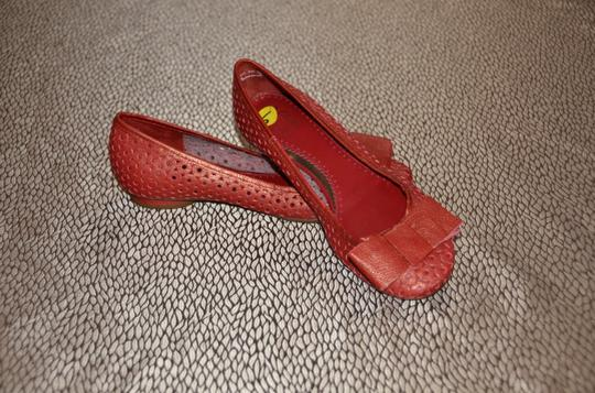 Clarks Red Flats Image 1