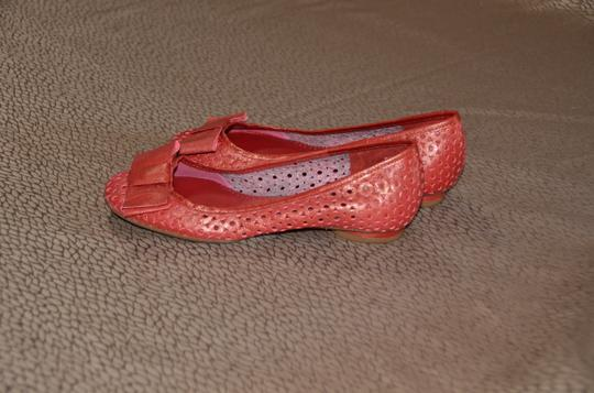 Clarks Red Flats Image 4
