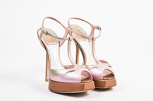 Dior Christian Lilac Leather Pink Sandals