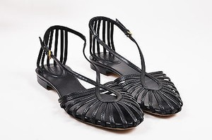 Gucci Leather Caged Black Sandals