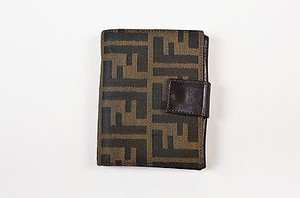 Fendi Fendi Brown Tobacco Zucca Patterned Fold Over Wallet