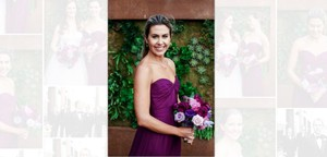 Amsale Purple Silk G969c Formal Bridesmaid/Mob Dress Size 4 (S)