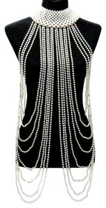 Dripping Elegance Multilayer Draped Pearls Body Chain Necklace Set