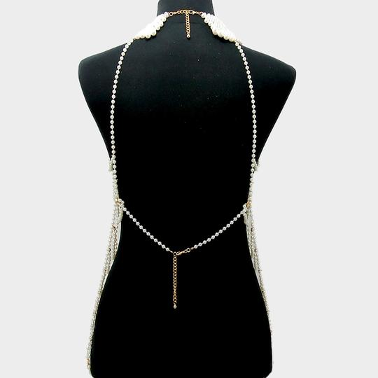 Other Dripping Elegance Multilayer Draped Pearls Body Chain Necklace Set Image 1