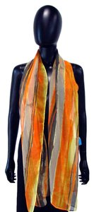 Chico's Sheer Long Striped Polyester Scarf