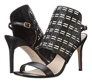 Cole Haan Leather Woven Elegant Black and white Sandals