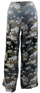 Willi Smith Flare Pants Black, Brown & White