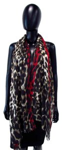 Chico's Long Frayed Animal Print Scarf