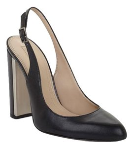 BCBGMAXAZRIA Slingback Made In Italy Nappa Leather Leather Black Pumps