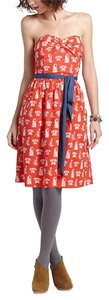 Anthropologie Fit & Flare Print Dress