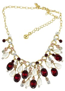 Kate Spade * Ruby Multi Color Stones Pearl MIx Confetti Necklace.