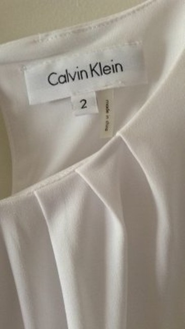Calvin Klein Gathered Neckline Top white