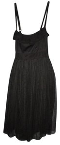 Xhilaration short dress Black Ruffled Mesh Gothic on Tradesy