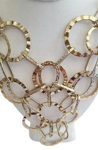 Other Gold Color Long Multi Circle Choker Necklace