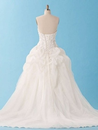 Alfred Angelo Ivory/Silver Net 227 Formal Wedding Dress Size 8 (M)