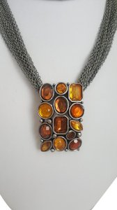 Other Rustic Style Orange and Silver Necklace