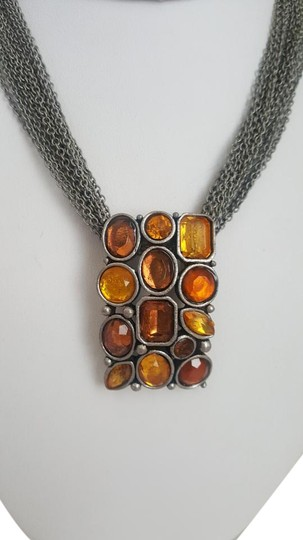 Preload https://img-static.tradesy.com/item/18890719/orange-rustic-style-and-silver-necklace-0-1-540-540.jpg