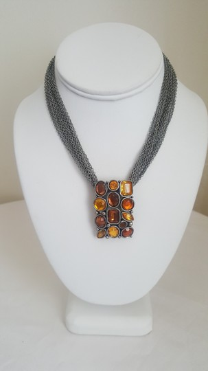 Other Rustic Style Orange and Silver Necklace Image 1