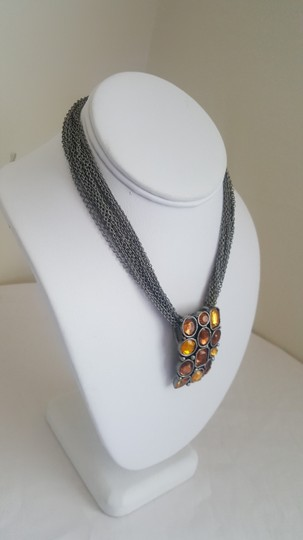 Other Rustic Style Orange and Silver Necklace Image 2