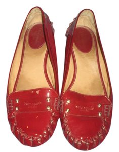 Kate Spade Ballet Flat Patent Ruby red Flats