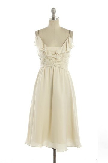 BHLDN Ivory Silk Couplet Casual Wedding Dress Size 12 (L) Image 8