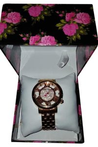Betsey Johnson Betsey Johnson woman's BJ00352-03 Rose Gold transparent face watch