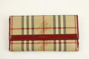 Burberry Red Novacheck Wallet 42BUR817