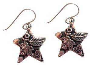 Roggio Roggio Star Sterling Silver Drop Dangle Earrings Carved Floral Signed