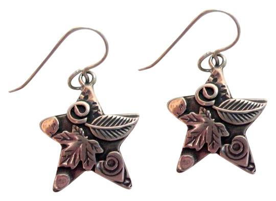Preload https://img-static.tradesy.com/item/18891535/silver-star-sterling-drop-dangle-earrings-carved-floral-signed-0-2-540-540.jpg