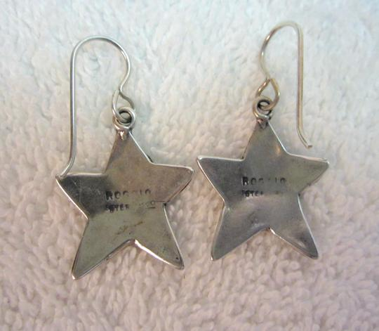 Roggio Roggio Star Sterling Silver Drop Dangle Earrings Carved Floral Signed Image 3
