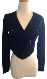 White House | Black Market Knit Zipper Lapel Sleeves Sweater