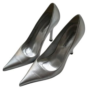 Charles David Stiletto Leather Silver Pumps