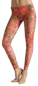 MCQ by Alexander McQueen Floral Peach Leggings