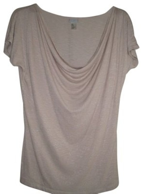 Preload https://item4.tradesy.com/images/h-and-m-beige-dressy-scoop-neck-in-sparkle-tee-shirt-size-8-m-18893-0-0.jpg?width=400&height=650