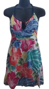 Hollister short dress Multicolored Floral Beach Halter Summer on Tradesy