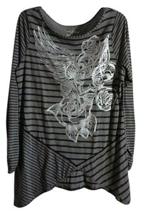 RXB Striped Metallic Longsleeve Tunic