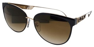 Chrome Hearts CHROME HEARTS Sunglasses BLOW JAY II Black-Gold & Cheetah Leather