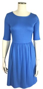 Cynthia Rowley short dress Blue Jersey Knit Elbow Sleeves on Tradesy