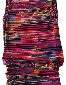 BCBGMAXAZRIA short dress Black, red, ornge, yellow, pink, aqu Brunch Multicolor Strech Bcbg on Tradesy
