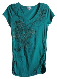 South Pole Collection Rhinestones Ruched Tunic