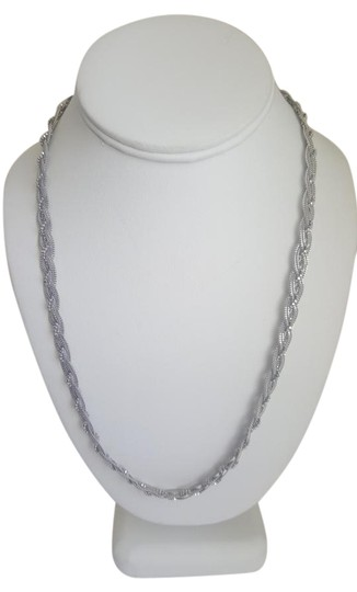Preload https://img-static.tradesy.com/item/18893404/silver-braided-elegant-necklace-0-2-540-540.jpg