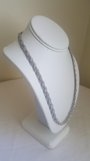 Other Silver Braided Elegant Necklace Image 2