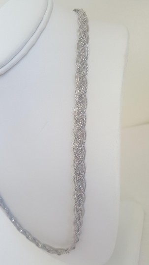 Other Silver Braided Elegant Necklace Image 3