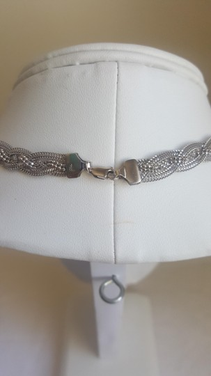 Other Silver Braided Elegant Necklace Image 4